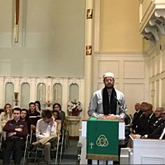 """The first Imam to speak at the United Methodist Church interfaith service's 35th Martin Luther King Celebration in Ridgewood, NJ. """"I stand before you today without hatred for a human being in my heart. Hope, not hatred, is needed to achieve King's dream for the world, and hope rests with our youth."""" ― Imam Zaid Shakir"""