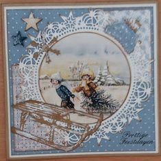 Cards By Lia: Merry Christmas Christmas Cards 2017, Christmas Card Images, Vintage Christmas Images, Xmas Cards, Happy Merry Christmas, Snowflake Cards, Old Cards, Marianne Design, Winter Cards