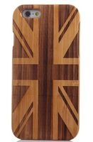phone6 peach wood union jack Pattern Mobile Phone Case for Apple Iphone 6 Iphone6 wood cases Back Cover