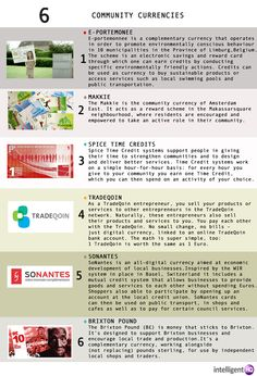 #Community #currencies #Infographic by Maria Fonseca