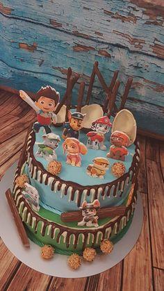 Paw patrol Torte Paw Patrol, Birthday Cake, Desserts, Food, Fondant Cakes, Birthday Cakes, Meal, Deserts, Essen
