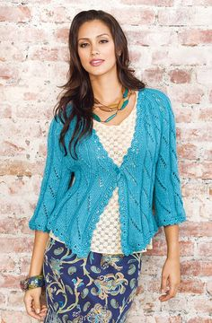 Follow this free knit pattern to create a jacket using Caron Joy yarn.