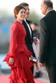 Royal Outfits of Crown Princess Mary: Mary Repeats Jesper Høvring Dress for Evening Celebrations