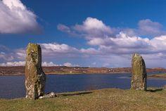 Foto de pedras que estão no Kensaleyre na Ilha de Skye, na Escócia.  Parte da Grã-Bretanha Express Travel and Heritage Library Imagem, coleção Escócia.