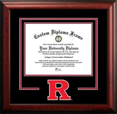 Rutgers University Matted Diploma With Mahogany Frame➕More Pins Like This At FOSTERGINGER @ Pinterest ➖ ✖️