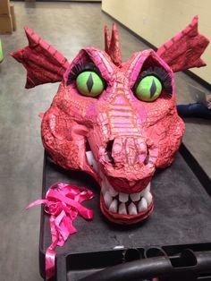 Cardboard Shrek Dragon head for Shrek the Musical