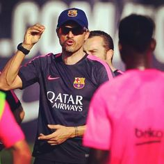 Luis Enrique in a training session | Luis Enrique a un entrenament | Luis Enrique en un entrenamiento #igersfcb #fcbarcelona #luisenrique
