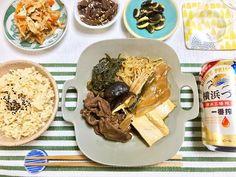 晩ごはん。 牛すき煮。 味が染み染み! 牛肉うんまいなー。 #イイホシユミコ #うつわ ・ ・ #晩ごはん #料理 #おうちごはん #器  #dinner #cooking #yummy #pic  #photo #iihoshiyumiko #beans