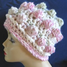 Bubble Gum Bobbles  Hat Crocheted in Super Luxurious Soft Thick Wool by KnittingGuru