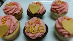 Engagement cupcakes.