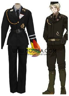 Costume Detail AXP Hetalia Prussia Costume Set Includes - Inner Top, Jacket, Pants, Belt, Tie Please see individual tabs for information including: -available sizes for this costume -available custom