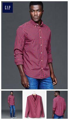 True wash gingham standard fit shirt