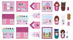 Cosas bonitas para hacer en casa, descarga de patrones para casa de muñecas de tela > Minimoda.es
