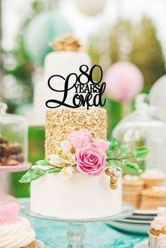 80 Years Loved Birthday Cake Topper  .:. Lead Time .:. Welcome to The Pink Owl. We love to allow 3-4 weeks production time for your custom made
