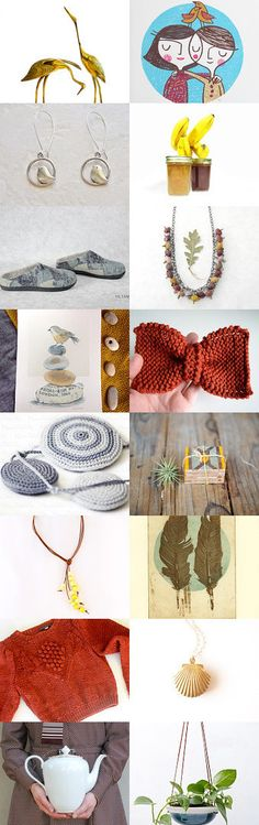 My knitted bow is featured in this beautiful treasury!<3 calm autumn by Tania and Oleksiy on Etsy--Pinned with TreasuryPin.com