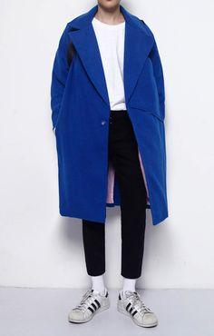 Big Pocket Coat   Royal Blue – BKBT Concept