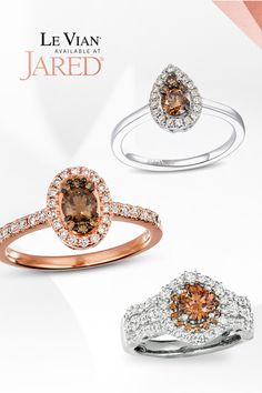 Layers and layers of luscious love! Treat your sweetheart to apiece ofdeliciousLeVian jewelry and let the fun begin. Let The Fun Begin, Le Vian, Treat Yourself, Layers, Engagement Rings, Chocolate, Future, Diamond, Brown