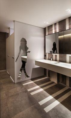 Turkcell Maltepe Plaza by mimaristudio in Istanbul....  this bathroom =Tres Chic!