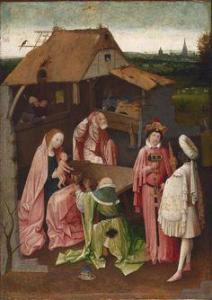 Hieronymus Bosch, La Adoración de los Reyes Magos (Epifanía); hacia 1518 o posterior. Óleo sobre tabla, 74x54cm. Filadelfia, Philadelphia Museum of Art.