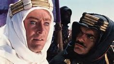"""Peter O'Toole met Omar Sharif in """"Lawrence of Arabia""""."""