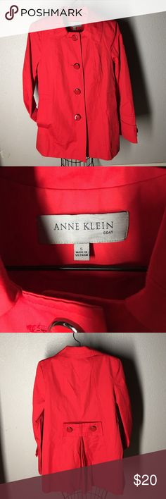 Coat. Size S. Nice red coat. Size S Anne Klein Jackets & Coats