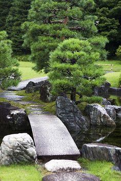 Inner zen garden in Sumiya ??, Kyoto | Gardens and Water features