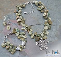 Enchanted Rainforest Jasper Sea Turtle Collection by Swellneweel, $20.00