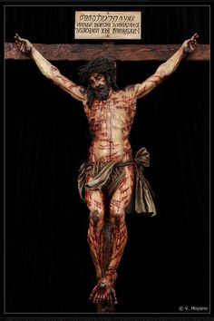 "I was moistened all over with blood,/shed from the man's side after he had sent up his spirit."" (Lines When reading these lines I pictured Jesus on the cross, bleeding profusely and suffering greatly. Image Jesus, Jesus Christ Images, Religious Pictures, Jesus Pictures, Catholic Art, Religious Art, Jesus Our Savior, God Jesus, Religion"
