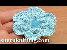 Get the more patterns at http://sheruknitting.com/ Looking for some really inspiring crochet flower patterns? Please see our crochet flower collection with a...