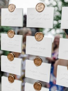 custom wax seal escort cards by sable and gray, gold wax seal designs for luxury weddings Custom Stationery, Custom Invitations, Wedding Invitations, Wedding Favors, Wedding Rings, Mirror Seating Chart, Seating Charts, Seating Chart Wedding, Wedding Signage