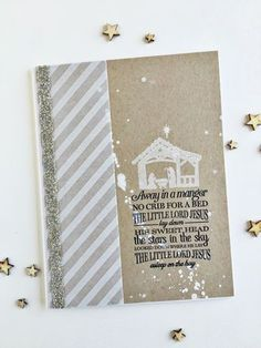 Away In A Manger Card by Heather Nichols for Papertrey Ink (September 2015)