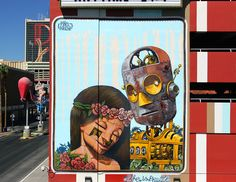 Mural by Pixel Pancho from the Downtown Project in Las Vegas.