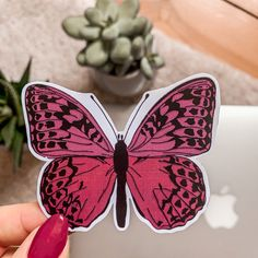 This is my handmade and waterproof Vinyl-Sticker. 6 Word Stories, Cute Butterfly, Stickers, Sticker Shop, Brooch, Vintage, Handmade, Shopping, Etsy