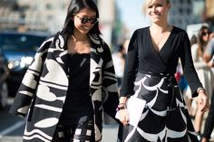 Street style - beautiful black and white prints (=)