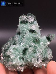 282g Clear and Perfect Green ghost quartz Crystal Cluster mineral specimen*1766