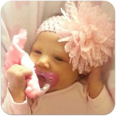 Pretty in pink ~ all matchy matchy with Pink CuddleSquare and JollyPop Pacifier.