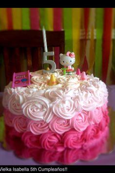 Roses cake for girls