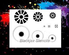 Steam Punk Gears Set 02 Airbrush Stencil Template | eBay