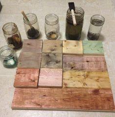 vinegar steel wool and tea/coffee/food color stains