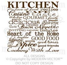 KItchen Quote - might need this!