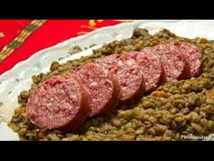 """... Sausage and Lentil,快速配方香腸和小扁豆,"""" su YouTube More"""