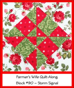 Farmer's Wife Quilt Along # 90 - Storm Signal    #8-4 #20-4,13-2,21-2 #20-4#13-2,21-2