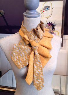 Mustard Vintage Tie Neckwrap