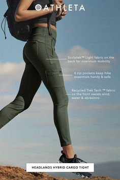 Headlands Hybrid Cargo Tight - Power through your toughest ascents in this train-meets-hike tight, with stretch where you want it - Cute Hiking Outfit, Summer Hiking Outfit, Summer Outfits, Camping Outfits For Women Summer, Sport Outfits, Mountain Hiking Outfit, Hiking Boots Outfit, Cute Camping Outfits, Hiking Fashion