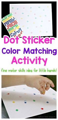 Easy and low-prep color matching activity for little ones! Great for fine motor skills and visual discrimination! Perfect to put together for quiet time, meal prep, or while working with older kids! Visual Motor Activities, Fine Motor Activities For Kids, Quiet Time Activities, Montessori Activities, Preschool Activities, Airplane Activities, Indoor Activities, Fine Motor Skills Development, Little Learners