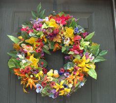 Summer Wreaths Wreaths Door Decoration by HomecraftedGooddies, $110.95