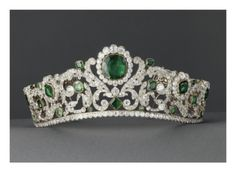 This tiara or diadem, belonged to Marie Theresa', aka Madame Royale, daughter of Marie Antoinette and Louis XVI. She married her 1st cousin, the Duc de Angouleme', who was the eldest son of the Comte de Artois. Marrying first cousins in the royal houses of Europe, was not frowned upon, it was the norm. Louis and Marie had always wanted, Madame Royal to marry the, Duc de Angouleme'