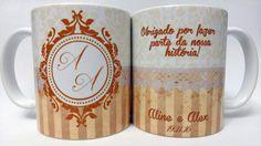 Caneca Noivos Vintage Clássica | Dasde Décor - Canecas & Afins | Elo7