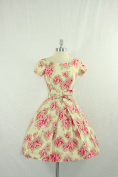 1950s Party Dress  Vintage Dress Ikat by VintageFrocksOfFancy, $180.00