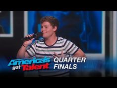 My favorite act of Americas got talent Drew Lynch: Stuttering Comedian Jokes About His Service Dog - America's Got Talent 2015 - YouTube-